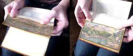 fanned fore edge painting